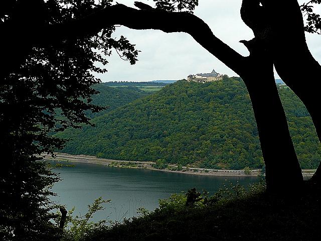 Blick auf Burg Waldeck